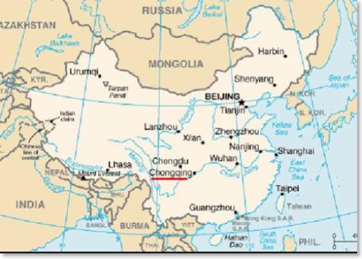 China Map Rivers